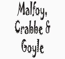 Malfoy, Crabbe & Goyle Kids Clothes