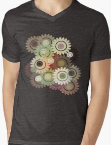 Clockwork Flowers T-Shirt Mens V-Neck T-Shirt