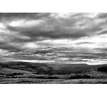 End of the day BW Photographic Print