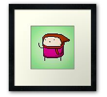 21st Century Digital Girl Framed Print