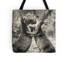 Fighting Kangaroo's, Perth hill's, Western Australia Tote Bag