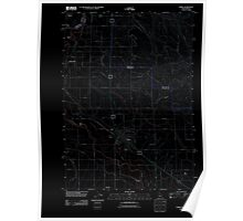 USGS Topo Map Idaho Parma 20110901 TM Inverted Poster