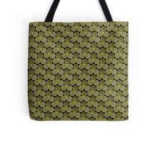 Triple Spiral Gold Black Moss Pattern Tote Bag