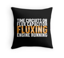 Back To The Future - Fluxing - White Clean Throw Pillow