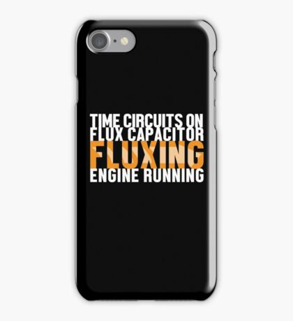 Back To The Future - Fluxing - White Clean iPhone Case/Skin