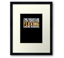 Back To The Future - Fluxing - White Clean Framed Print
