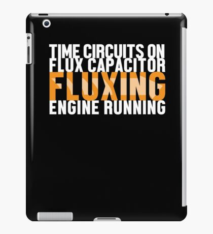 Back To The Future - Fluxing - White Clean iPad Case/Skin