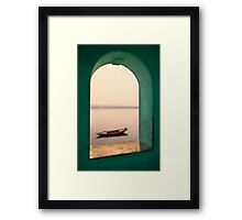 Varanasi, river view Framed Print