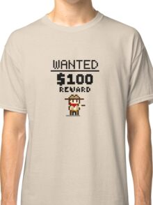 8-bit Wanted Poster Classic T-Shirt