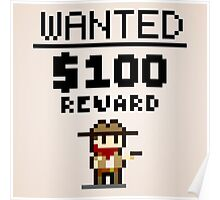 8-bit Wanted Poster Poster