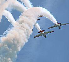Aeroshell Aerobatic Team by Marija