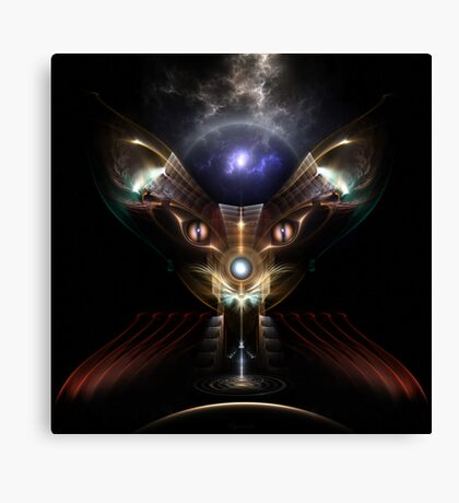 Kitty Kat Guardian Of The Void II Canvas Print