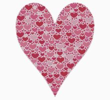 Tiny Hearts Big Heart on Rose Pink Valentines One Piece - Long Sleeve