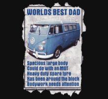 Worlds Best Dad VW Camper Van Kids Clothes