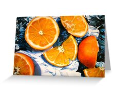 Still Life with Blue and White Chintz.. Greeting Card
