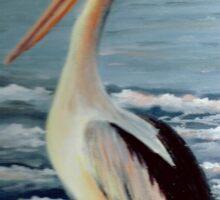 Pelican Wading  Sticker