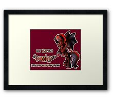 MLP: Horsemen of the Apocalypse: War Framed Print