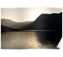 Alpine rays of light Poster