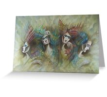Oil Painting Secret Society Greeting Card