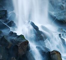 Water on the rocks by Forrest  Ray