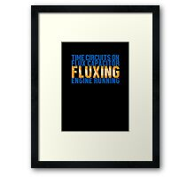 Back To The Future - Fluxing - Colored Clean Framed Print