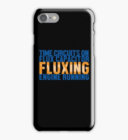 Back To The Future - Fluxing - Colored Clean iPhone Case/Skin