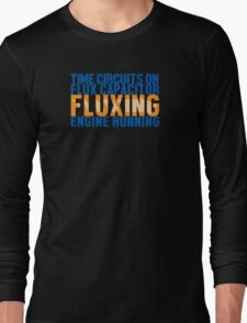 Back To The Future - Fluxing - Colored Clean Long Sleeve T-Shirt