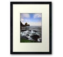 Green Rock- Nohoval Bay Cork Framed Print