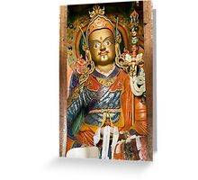 Buddhist idol Greeting Card