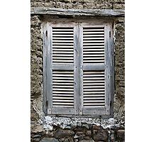 Old wood window  Photographic Print