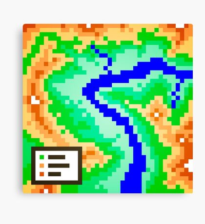 Pixel Topography Canvas Print
