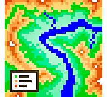 Pixel Topography Photographic Print