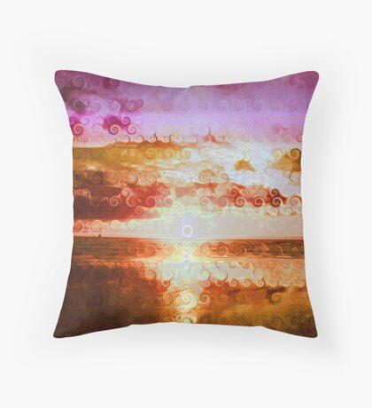 Swirly sunset Throw Pillow