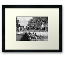 Track of old train tears Framed Print