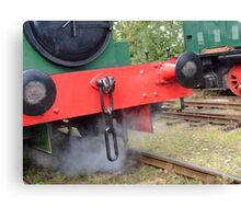 Red on Green Shunt Canvas Print