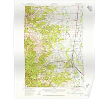 USGS Topo Map Oregon Monroe 282725 1939 62500 Poster