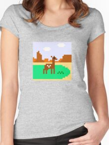 Deer in Meadow Women's Fitted Scoop T-Shirt