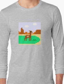 Deer in Meadow Long Sleeve T-Shirt