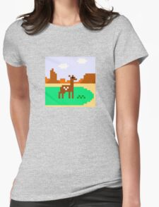 Deer in Meadow Womens Fitted T-Shirt