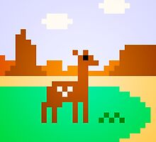 Deer in Meadow by Justin Mair