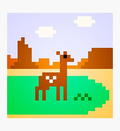 Deer in Meadow Photographic Print
