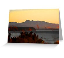 Evening Light, Discovery Bay, Port Townsend  Greeting Card