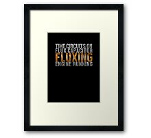 Back To The Future - Fluxing - White Dirty Framed Print