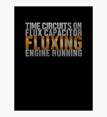 Back To The Future - Fluxing - White Dirty Photographic Print