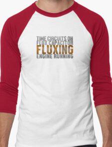 Back To The Future - Fluxing - White Dirty Men's Baseball ¾ T-Shirt