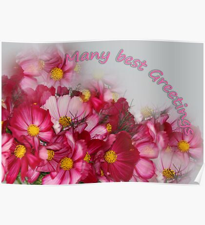 Many best Greetings Poster