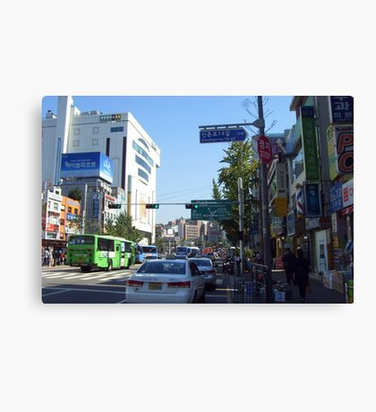 street in seoul Canvas Print