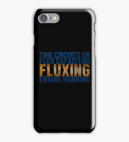 Back To The Future - Fluxing - Colored Dirty iPhone Case/Skin