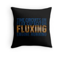 Back To The Future - Fluxing - Colored Dirty Throw Pillow