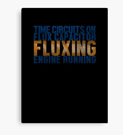 Back To The Future - Fluxing - Colored Dirty Canvas Print